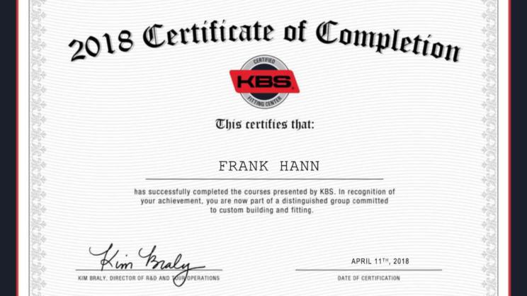 KBS Certified Shaft Center