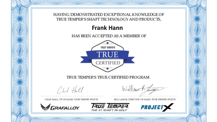 True Temper Certified Shaft Center